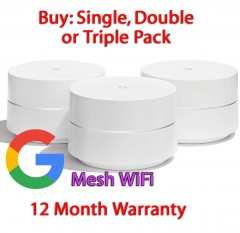 google mesh whole home wi-fi router system single double or triple pack - refurbished